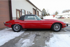 Jaguar XKE Series 3 Roadster Red 1973 Passenger Side View