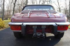 Jaguar XKE Series 3 Roadster Burgundy 1974 Rear View