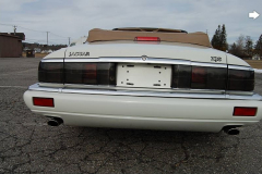 Jaguar XJS Convertible White 1995 Rear View