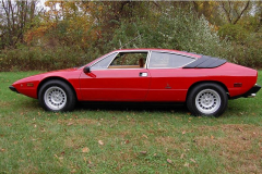 Lamborghini Urraco Red 1975 Driver Side View