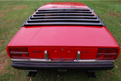 1975 Lamborghini Urraco Red Rear View