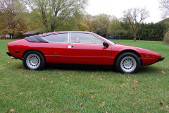 1975 Lamborghini Urraco Red Passenger Side View