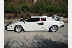 Lamborghini Countach White 1988 Driver Side View