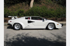 Lamborghini Countach White 1988 Passenger Side View
