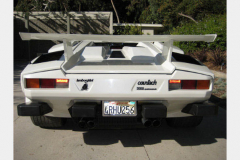 Lamborghini Countach White 1988 Rear View