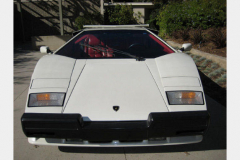 Lamborghini Countach White 1988 Front View