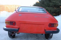 Lancia Fulvia Zagato Red 1973 Rear View
