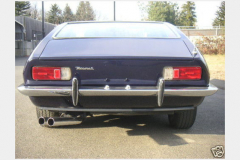 Maserati Ghibli Coupe Blue 1967 Rear View