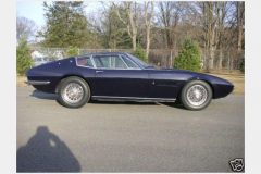 Maserati Ghibli Coupe Blue 1967 Passenger Side View
