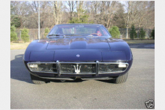 Maserati Ghibli Coupe Blue 1967 Front View
