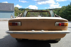 Maserati Mistral Project Car 1967 Rear View