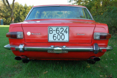 Maserati Mexico Red 1968 Rear View