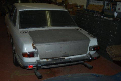 Maserati Mexico White 1968 Rear View