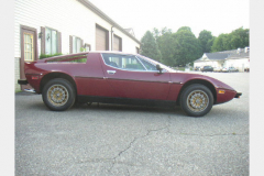 Maserati Merak Burgundy 1980 Passenger Side View