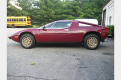 Maserati Merak Burgundy 1980 Driver Side View