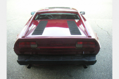 Maserati Merak Burgundy 1980 Rear View