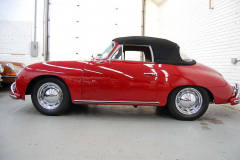 Porsche 356 A Cab Red 1959 Driver Side View