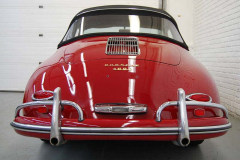Porsche 356 A Cab Red 1959 Rear View