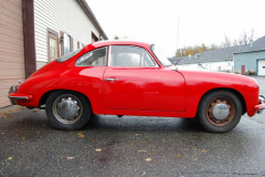 Porsche 356 SC Red 1964 Passenger Side View