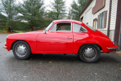 Porsche 356 SC Red 1964 Driver Side View