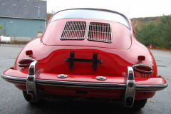 Porsche 356 SC Red 1964 Rear View