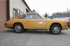 Porsche 911 Coupe Yellow 1965 Passenger Side View