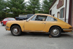 Porsche 911 Coupe Yellow 1965 Driver Side View