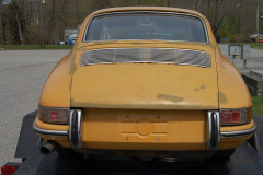 Porsche 911 Coupe Yellow 1965 Rear View