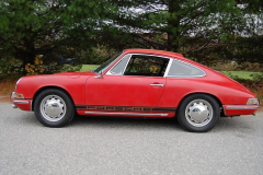 Porsche 912 Coupe Red 1965 Driver Side View