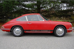 Porsche 912 Coupe Red 1965 Passenger Side View