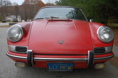 Porsche 912 Coupe Red 1965 Front View