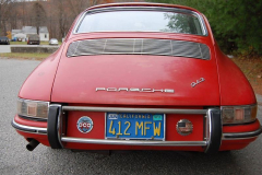 Porsche 912 Coupe Red 1965 Rear View