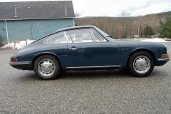 Porsche 911 Coupe Blue 1966 Passenger Side View
