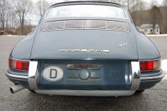 Porsche 911 Coupe Blue 1966 Rear View