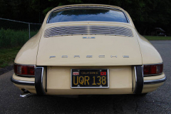 Porsche 912 Coupe Champange Yellow 1967 Rear View