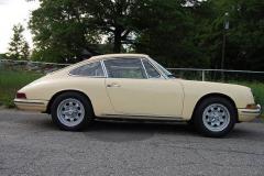 Porsche 912 Coupe Champange Yellow 1967 Passenger Side View