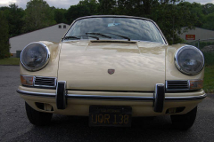 Porsche 912 Coupe Champange Yellow 1967 Front View