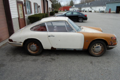 Porsche 912 Coupe Sunroof White 1967 Passenger Side View