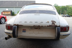 Porsche 912 Coupe Sunroof White 1967 Rear View