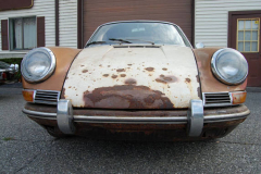 Porsche 912 Coupe Sunroof White 1967 Front View