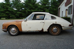 Porsche 912 Coupe Sunroof White 1967 Driver Side View