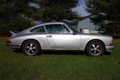 Porsche 911 L Coupe Silver 1968 Passenger Side View