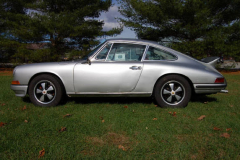 Porsche 911 L Coupe Silver 1968 Driver Side View