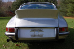Porsche 911 L Coupe Silver 1968 Rear View