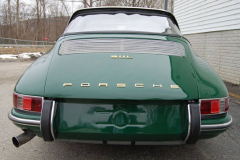Porsche 911 L Soft Window Targa Green 1968 Rear View
