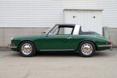 Porsche 911 L Soft Window Targa Green 1968 Driver Side View