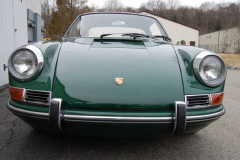 Porsche 911 L Soft Window Targa Green 1968 Front View