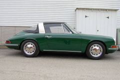 Porsche 911 L Soft Window Targa Green 1968 Passenger Side View