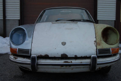 Porsche 911 S Soft Window Targa White 1968 Front View