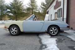 Porsche 911 S Soft Window Targa White 1968 Driver Side View